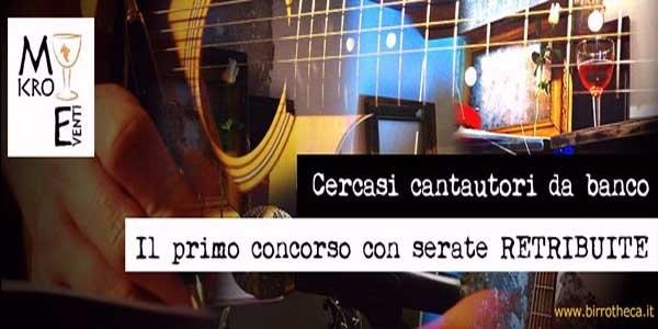 CONCORSO CERCASI CANTAUTORI DA BANCO