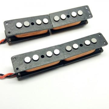 FOTO Set Pickup Split Coil Per Jazz Bass JBSPA54 (alnico 5) Artigianali (NUOVI)